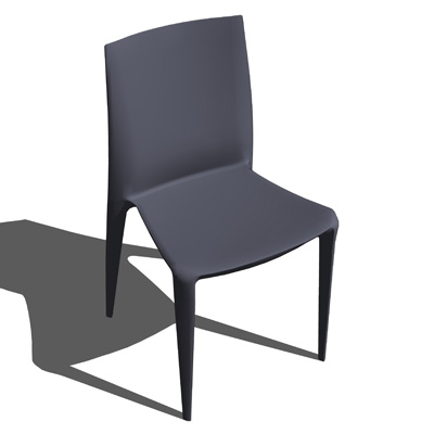 Injection molded stacking chair appropriate for in....