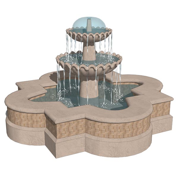 Spanish style fountains in 2 configurations. For w....