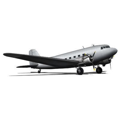 The Douglas DC-3 is a fixed-wing, propeller-driven....
