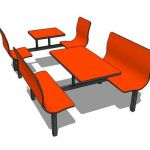 Fastfood seating in both