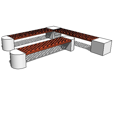 Foundation Bench with End support options. Round, ....