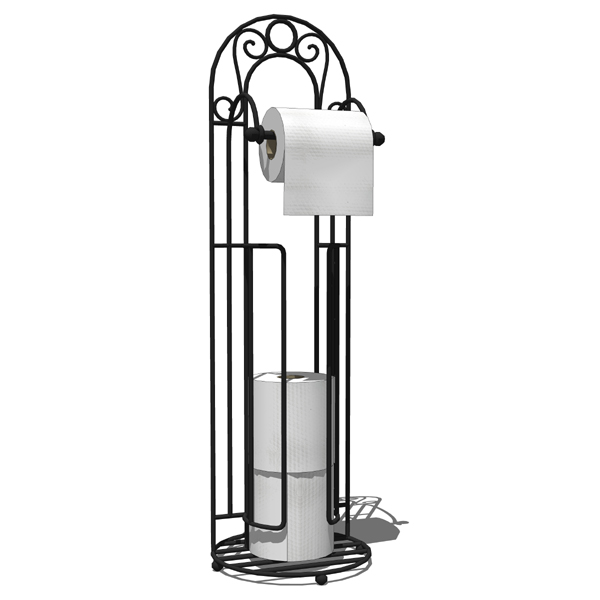 Belladonna toilet paper wrought iron stand..