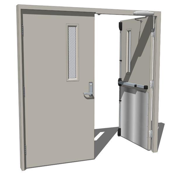 Double Opposing Metal Door 3d Model Formfonts 3d Models