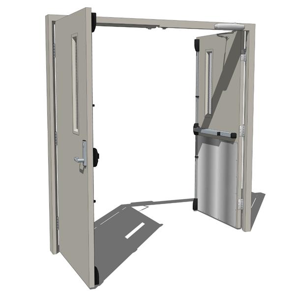 Double opposing metal door 3d model formfonts 3d models for Door 3d model