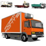 The Mercedes-Benz Atego is a light rigid truck int...