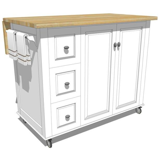 Mobile kitchen cabinets.