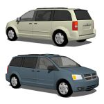 The Dodge Caravan and Grand Caravan are minivans m...