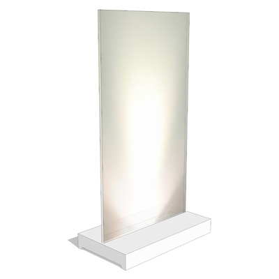 Ulta-contemporary table lamp featuring base made o....