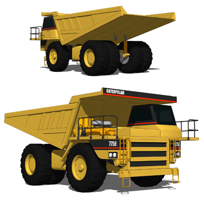 The Caterpillar 775 is an ultra class mining truck....