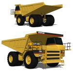 The Caterpillar 775 is an ultra class mining truck...