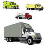 Navistar International 7300 in four configurations