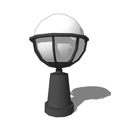 Bega 7563 Glass Sphere Pillar luminaire - Die cast....
