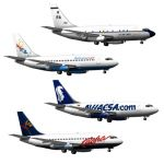 Boeing 737-230 Advance in four configurations.