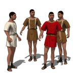 Selection of Ancient Romans wearing a simple tunic...