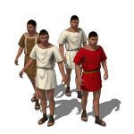 Ancient Roman wearing a simple tunic. The figure m...
