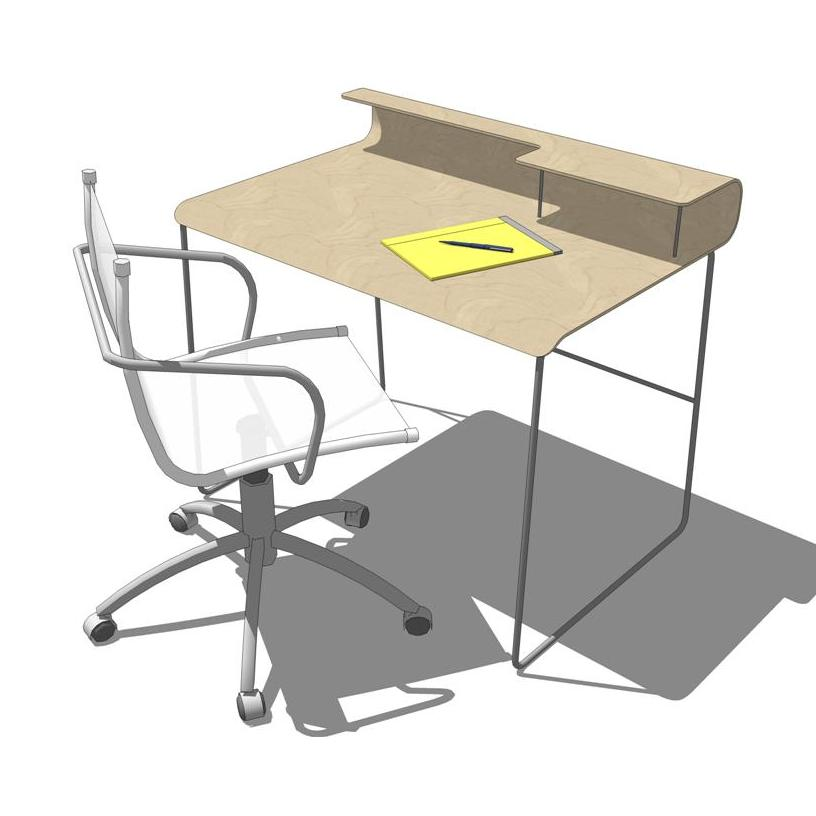 OFFI - Wave Desk. The perfect desk for intimate sp....