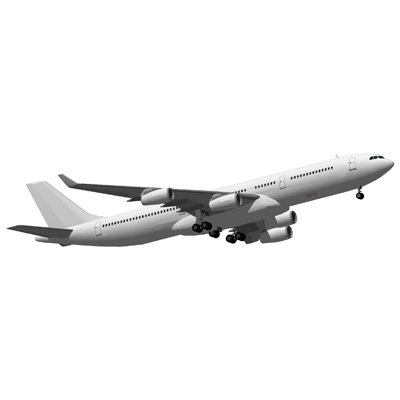 The Airbus A340 is a four engined widebody commerc....