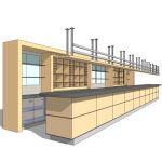 Bar counter with shelving. 4 different layouts. (B...