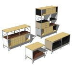 Herman Miller Eames Storage unit in 4 different si...