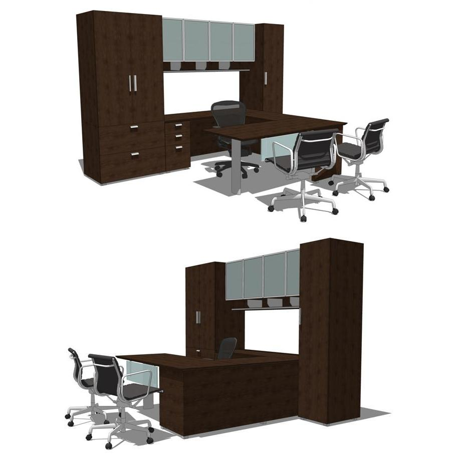 Ariel Office Group 1-4. Shown in dark cherry finis....