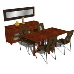 Taloha dining set. The set includes the dining tab...