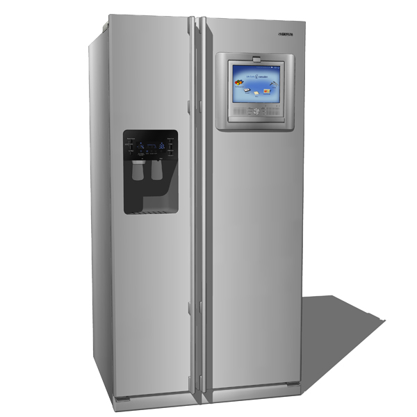 Samsung RH269LP refrigerator. Model is highly deta....