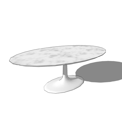 Saarinen medium oval dining table with marble top ....