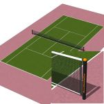 Doubles court in 4 different types of surface. Sta...