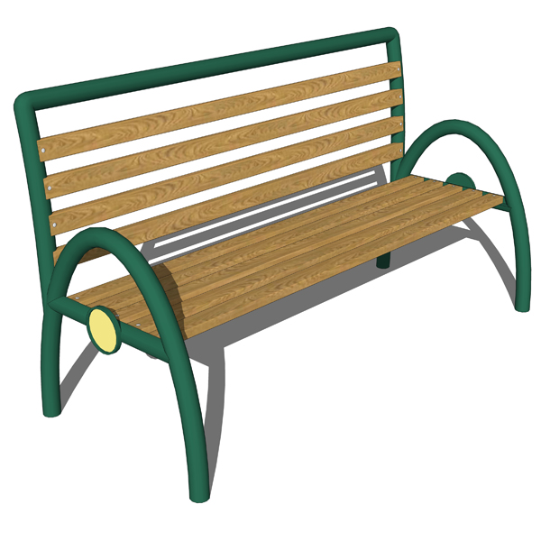 Iron and wood public benches. Models 545 and 546 b....
