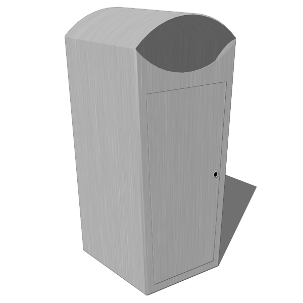 Stainless steel trash receptacles by CIS Street Fu....