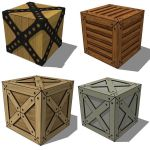 Various Crates. Great for filling a warehouse or a...