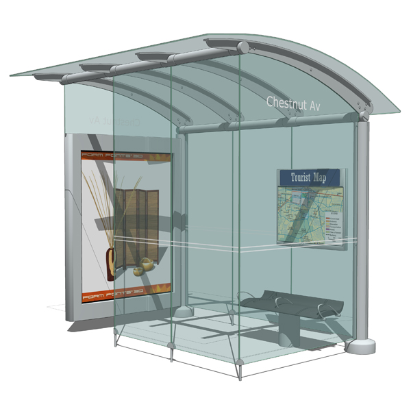 Transit shelters based on Astral Media´s str....