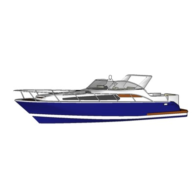 Modern yacht w/o canopy. Based on the