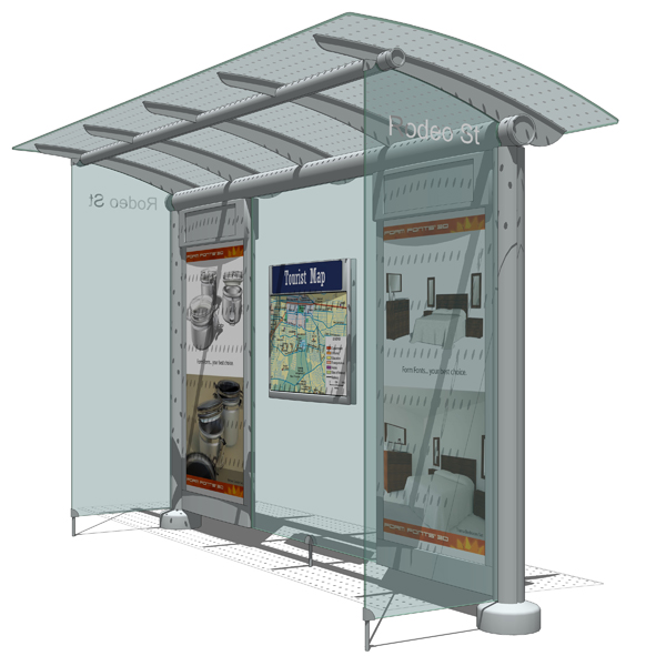 Astral Media Outdoor´s Canopy transit shelte....