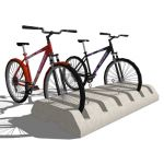 Model based on a precast concrete bike rack from A...