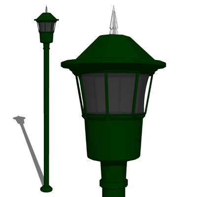 Model based on the Cooper Lighting New Haven pole ....
