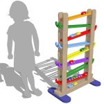 Children's zig zag car tower toy.