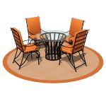 Wrought iron islas dining table and chairs by Herr...