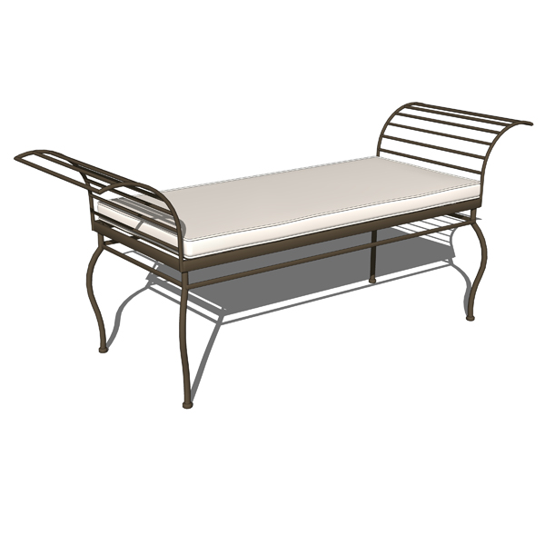 Wrought iron garden benches..