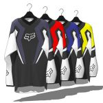 Fox Motocross jerseys. Intended for shop display, ...