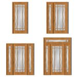 Elm street house door in 4 different prehung style...