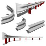 Four pieces to build highway security barriers.
