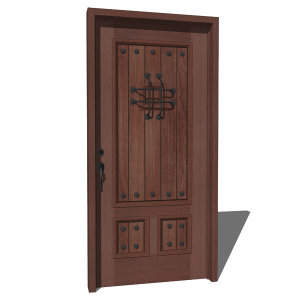 Masonite´s Cavalier distressed mahogany door....