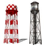 Water towers set