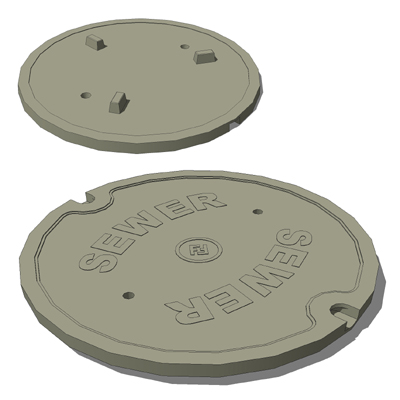 Sanitary sewer manhole cover and castings based on....