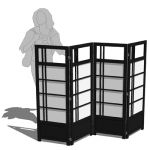 Haiku Design Kamakura 4-panel furniture screen. Ea...