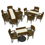 Restaurant dining set which includes the armchair,...