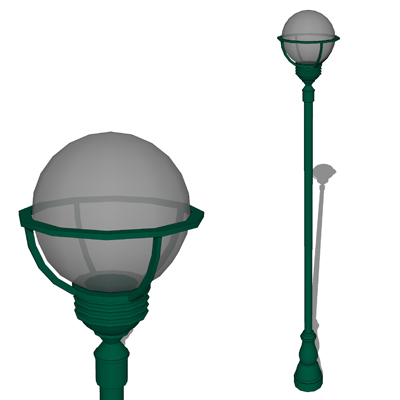 Model based on the Whatley 1510 Pole Light..