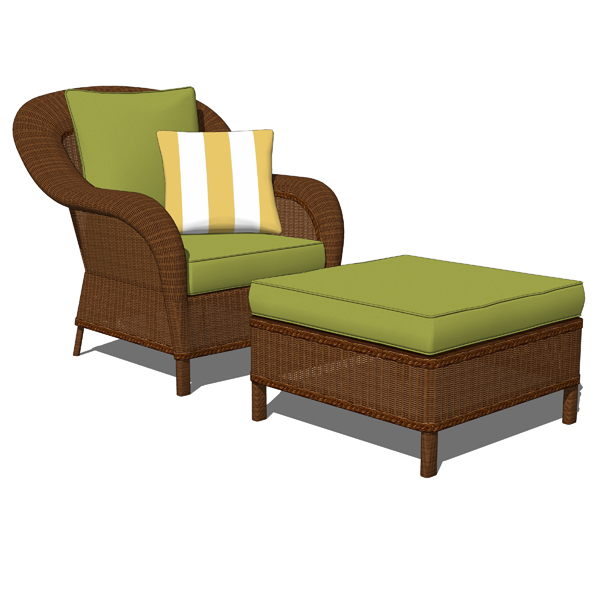 Palmetto Honey all weather wicker armchair and ott....