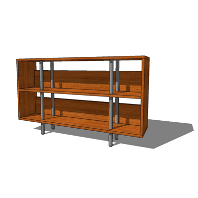 Chicago Low Boy shelving unit by Blu (version 3 co....